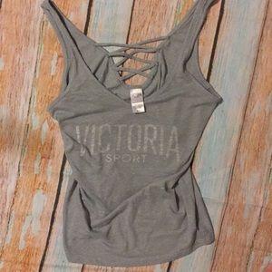 Victoria's Secret Sport crisscross tank top shirt